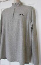 $84.50 NWT Mens Michael Kors Logo 1/2 Zip Mock Neck Long Sleeve Shirt L