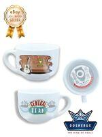 Friends Smelly Cat Central Perk 24oz Ceramic Soup Mug w/ Lid Microwave Safe