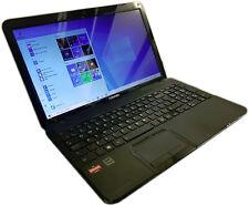 "Toshiba Satellite C850D 15.6"" Notebook PC AMD A4 2.5GHz 6GB 250GB Win 10"