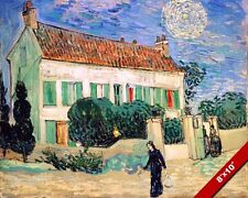 WHITE HOUSE AT NIGHT VINCENT VAN GOGH PAINTING ART REAL CANVAS PRINT