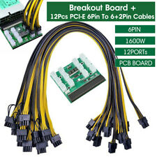 More details for breakout board server adapter psu power supply hp 1600w gpu mining w/ cables uk