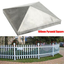 10pcs 100MM Metal Iron Pyramid Square Epoxy Fence Post Caps Finial for 4'' Posts