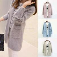 Women Loose Knitted Sweater Long Sleeve Casual Tops Cardigan Outwear Coat Jacket