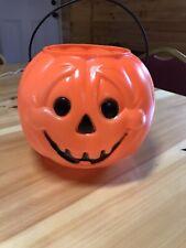 Vintage General Foam Halloween Blow Mold Trick or Treat Pumpkin Pail