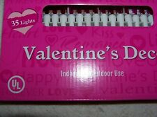 Valentine'S Red And Pink Light Set - 35 Count - New In Pkg.