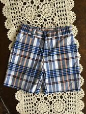 Janie And Jack Boys Multicolor Blue Black Orange Shorts Adjustable Waist 18-24 M