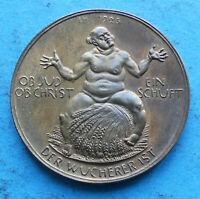 ! INFLATION Medaille 1923 Hörnlein OB JUD OB CHRIST EIN SCHUFT DER WUCHERER IST