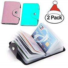 Christmas Gift 48 Pcs Transparent Plastic Vertical ID Credit Card Holder Sleeve