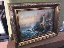 Thomas Kinkade, Painter of Light, Textured print  Seaside Memories III With COA