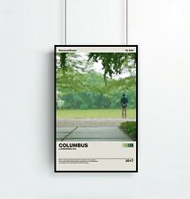 Columbus Poster  Kogonada  Vintage Retro Art Print  Minimalist Movie Poster  Wal
