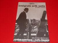 COLL LE BOURHIS BALLET DANSE/ INTEGRALE ERIK SATIE AFFICHE OPERA PARIS MAI 1979