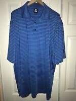 FOOTJOY XL S/S GOLF POLO MENS Shirt BLUE STRIPED C36