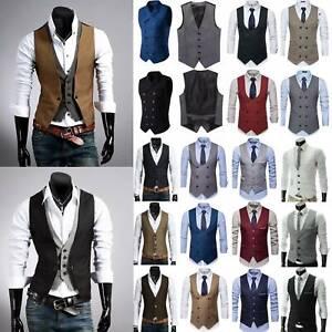 Men Tweed Peaky Blinders Formal Interview Dress Suit Peacoat Blazer Waistcoat