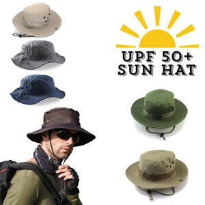 Camo Sun Hat Bucket Cargo Safari Bush Army Boonie Summer Fishing Hats Cap UPF50