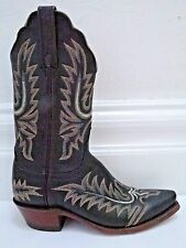 LUCCHESE 1883 black leather decorative stitching cowboy boots size 6.5