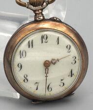 Antique Silver Cylindre 10 Rubis Pocket Watch Runs