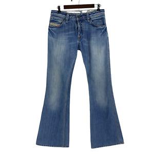 Diesel Zaf Light Wash Blue Cotton Denim Flare Button Fly Jeans Italy 29 x 32