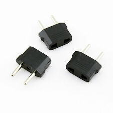 3Pcs Mini Universal European Us to Eu Ac Travel Outlet Plug Adapter Converter Us