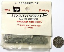 25pr 1960s TRADESHIP Japan 1/24 1/32 Slot Car BRAIDED WIRE CUT Pick Up Shoes A++