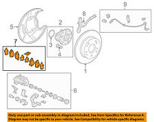 HONDA OEM 2008 Civic Brake-Rear-Disc Brake Pads 43022XVJ000