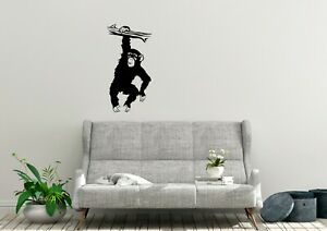 Chimpanzee Graffiti Inspired Design Nature Monkey Wall Art Decal Vinyl Sticker