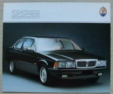 MASERATI 228 Car Sales Brochure UK c1990 #V360