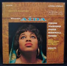 VERDI: AIDA Complete-3 LP BOX SET w/Booklet-SOLTI-RCA VICTOR #LM 6158 RED SEAL