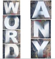 large industrial steel letters metal rustic numbers shop sign lettering words