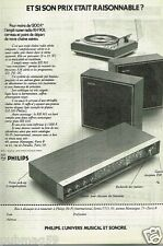 Publicité advertising 1972 Hi Fi Ampli Tuner Radio RH 901 Philips