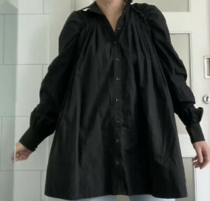 AJE Black Poplin Cotton Smock Mini Dress Current Size 6 Fits Up To 10