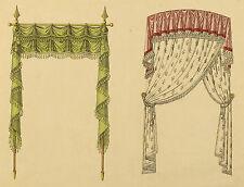 Sammlung von fünf handkolorierten Lithographien von Désiré Guilmard