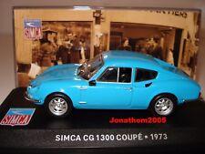 SIMCA CG 1300 COUPE BLEU - 1973 au 1/43 °