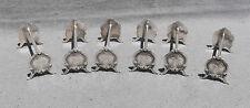 SERIE DE 6 PORTES COUTEAUX EN METAL ARGENTE STYLE LOUIS XV (rest knives)