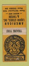 Matchbook Cover - American Liquor Stores Tavern Chicago Owrn Bobtail