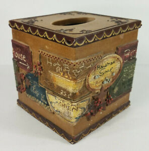 York Wallcoverings Inc Country Baths 3D resin decorative tissue box cover 2007