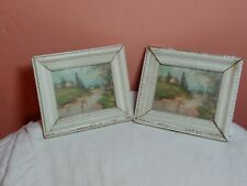 Vintage Miniature Picture Frames With Oil Painting Lazy River Cottage See Photos