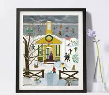 """Country School House  Art Reproduction 8x10"""" Pat Singer's New York - Home Decor"""