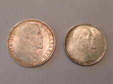 ~Czechoslovakia 1928 10 Korun & 1937 20 Korun Uncirculated - 2 Coin Silver Set
