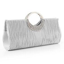 Womens Crystal Evening Clutch Bag Wedding Bridesmaid Handbag Bridal Accessories