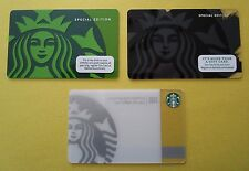 Starbucks Cards ~ Lot of (3) Mermaids ~ 40th Anniv, Tribute & Black 2011 & 2014