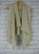 LIFE & STYLE Knit Vest Sz XS Wool Mix Beige/Cream