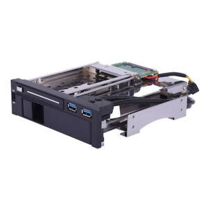 "3.5 ""+2.5"" Inch SATA III Disque dur HDD et SSD Caddy Mobile Rack Enclosure U7L0"