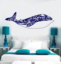 Vinyl Wall Decal Big Whale Art Shells Ocean Sea Style Stickers (1792ig)