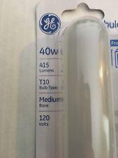 Lot of 9 New GE 40-Watt Tubular, Frost Soft White Light Bulbs