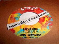SOUL SURVIVORS-EXPOSION IN YOUR SOUL/DATHON'S THEME-CRIMSON CR 1012 VG+ VINYL 45
