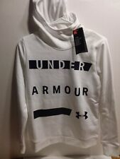 Under Armour Womens Hoodie Sweatshirt / Size-XS / White - Cold Gear Loose (NEW)