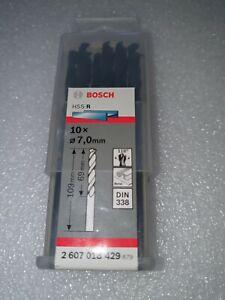 10xBosch Metal drill bits HSS-R. DIN 338 7 x 69 x 109 mm 2607018429