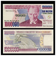 1000000 1.000.000 ONE MILLION TURKEY TURKISH LIRA BANKNOTE MONEY  UNC T SERIES