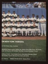 1977 New York Yankees Baseball Team Photo