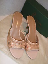 Lisa For Donald J Pliner New Womens Nude Silk Satin Indian Sequins Shoes 9.5 M